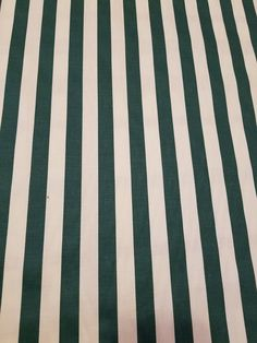 TABLE Runners / PILLOW Covers / Placemats / Napkins / Tablecloth - Green and White Stripe Cotton