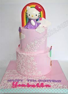 Celebrate with Cake!: Hello Kitty Cascading Stars Cake