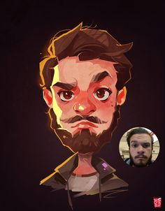 ArtStation - Male Portrait, Vince Ruz