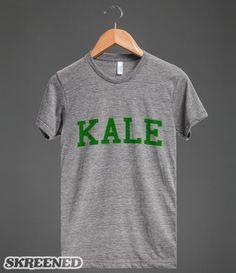 Kale University Funny Vegan T-Shirt