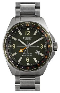 Men's Filson 'The Journeyman' GMT Bracelet Watch
