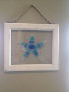 Sea glass sea star SOLD at ArTea Store, Palmetto, FL.