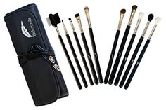 Featherstroke Makeup Brushes - For Perfect Eyes - 10 piece Eye Makeup Brush Set * Check out this great product.