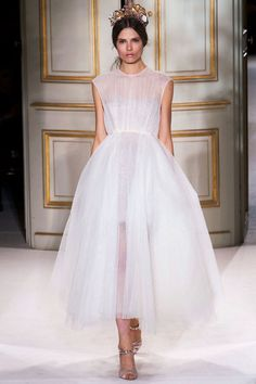 Giambattista Valli Chiffon Gown - Wedding Dresses from Paris Couture Week - Marie Claire