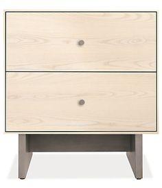 Hudson Wood Nightstands with Wood Base - Modern Nightstands - Modern Bedroom Furniture - Room & Board