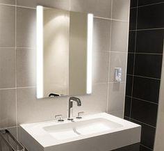 Light Mirrors - Illuminated Bathroom Mirror 650 x 500 Halo Range 1112 Backlit Mirror, Mirror With Lights, Wall Mirror, Master Bathroom, Bathroom Mirrors, Bathrooms, Bathroom Ideas, Illuminated Mirrors, Toilet Room