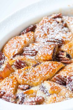 How to Make Bread Pudding with Croissants and Nutella