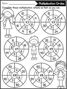 Multiplication Facts Practice, 3rd Grade Math Worksheets, Printable Math Worksheets, School Worksheets, Math For Kids, Fun Math, Math Activities, Homeschool Math, Math Classroom
