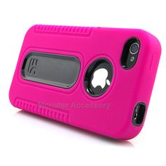 The Pink Duo Shield Hard Case Gel Cover for the Apple iPhone 4 4S is a Dual Layered Hybrid Gel Case. Very stylish and protects your phone from scratches and internal damages. It comes in many different colors and are interchangeable with each other.