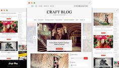 Craft Blog – Theme Free WordPress Fashion Wordpress Theme, Best Wordpress Themes, Kids Sports Party, Web Design, Logo Design, Healthy Shopping, Themes Free, Bath And Beyond Coupon, Los Angeles California