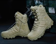 6851db168a09 Tactical Boots For Men Lightweight Wear Resistant Military Footwear All  Purpose Combat Boots Quick Zip Slip On Feature - 2 Colors