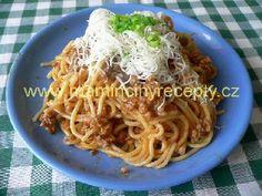 Káhirské špagety Spaghetti, Food And Drink, Ethnic Recipes, Bulgur, Noodle