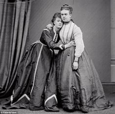 Stella, left, and Fanny, right, the two Victorian men who were arrested and charged with having sex with each other and also of several acts of conspiracy