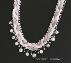 Woolly Beaded Necklace by DonarteHandmade on Etsy