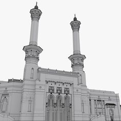 model masjid al haram 3d Model Architecture, Masjid Al Haram, Mosque, Islam, Places, Art, Mosques, Kunst, Lugares