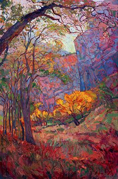 Zion Deep Painting by Erin Hanson