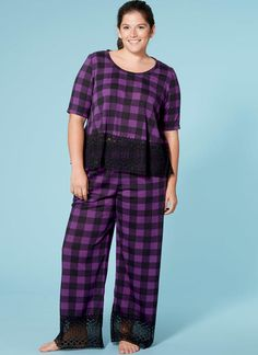 McCall s sleepwear pattern in sizes up to 24W. M7697 Misses  Women s Lounge  Tops 63d9bf02e