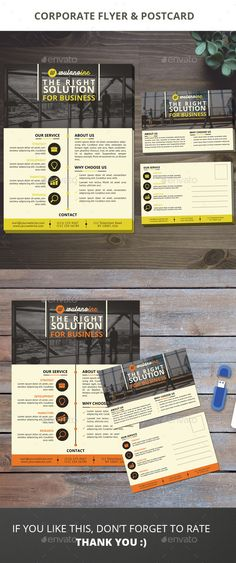 Corporate Business Flyer & Postcard