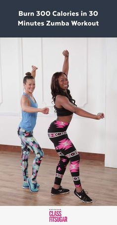 This Zumba workout will fire you up! You'll burn calories and work up a sweat without even realizing it. Yeah, it's a workout disguised as a dance party.