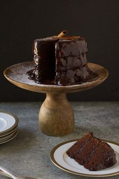 Gluten Free Dairy Free Chocolate Cake with Cinnamon and Chilies. Like a Mexican Hot Chocolate in layer cake form!