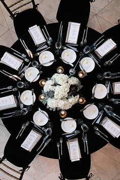 Think you can't use black as a primary wedding color? Think again. When paired with white, the effect is so timeless that you'll still love looking at your photos decades from now.