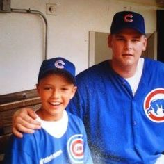 me with Kerry Wood my pitching IDOL hes a stand up dude i exchange emails and texts with him to this day