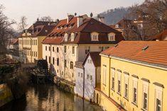 water, winter, bridge, house, morning, town