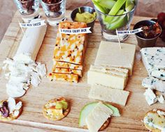 source: A Beautiful Mess. Love this idea of labeling cheeses and other foods with toothpick flags!