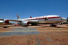 Боинг-707 авиакомпании Qantas в музее авиакомпании в городе Лонгрич, Австралия