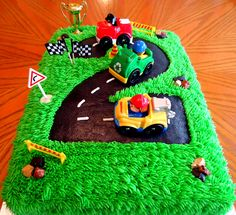 Number 2 race track cake
