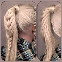 Braided ponytail - everyday hairstyle for long hair from tutorial  http://www.youtube.com/watch?v=v3dCjNHIqv4