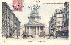 Le Panthéon in Paris from a postcard dated November 23rd, 1905.