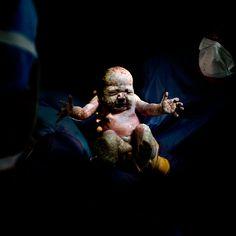 Du ventre de leur mère à leur vie sur Terre: Des nouveau-nés photographiés quelques secondes après leur naissance