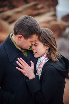 Surprise Proposal at Red Rocks Colorado by Sarah Rose Burns Photography  www.sarahroseburns.com