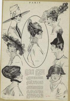 1916 hats from Harper Bazar