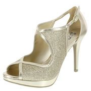 Gold Pumps From Payless Thing 1, Gold Pumps, All Things Beauty, Shoe Boots, Shoes, Ankle Strap, Peep Toe, High Heels, Platform