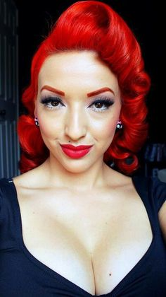 The red hair and the pin up style