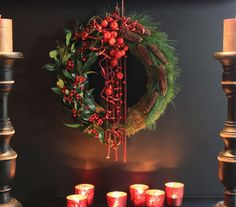 For this x-mas. Lovely wreath