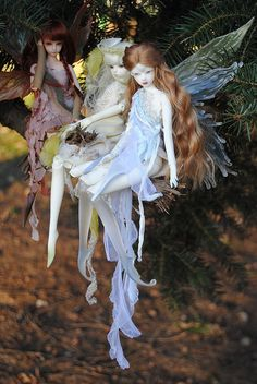 ≍ Nature's Fairy Nymphs ≍ magical elves, sprites, pixies and winged woodland faeries - fae dolls