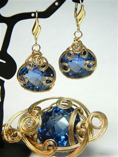London Blue Topaz Pendant & Earrings in 14k with Diamonds - Jewelry Making Daily