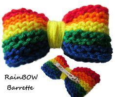 The Equality RainBOW Barrette 10 donated to support by OhYarnKnit, $10.00