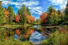 Autumn reflections in Baraga County, Upper Peninsula