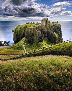 In Dunnottar Castle, Scotland.