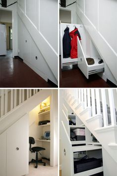 Understairs storage is great but no desk for me, a little too Harry Potter cupboard under the stairs! Lol