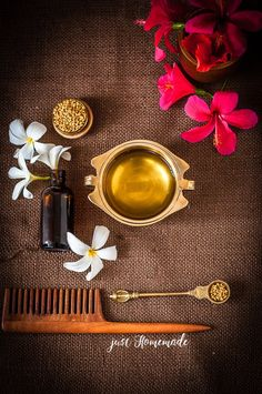 Easy Do-It-Yourself Homemade Herbal Hair Oil using easily available ingredients for dandruff and hair fall control Best Natural Hair Products, Natural Hair Styles, Ayurvedic Hair Oil, Oils For Dandruff, Hair Fall Control, Herbal Oil, Baby Shampoo, Moisturize Hair, Be Natural