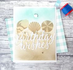 Birthday Wishes Card by Danielle Flanders for Papertrey Ink (May 2016)