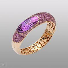 CapriPlus bracelet. Rose gold bracelet with amethysts - Roberto Coin