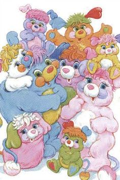 Who remembers this series of brightly colored fantasy teddy bears with long tails and pom-poms on the tip, and pouches on their backs they could snuggle up in and turn into balls? Such 1980's nostalgia! http://www.youtube.com/watch?v=lzzHB-cQVO8