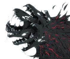 ALMOST AT 50% Dark Creatures, Fantasy Creatures, Mythical Creatures, Fantasy Kunst, Dark Fantasy Art, Dark Art, Monster Design, Monster Art, Creature Concept Art
