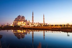 Sheikh Zayed Grand Mosque, Abu Dhabi, United Arab Emirates via @MyDomaine